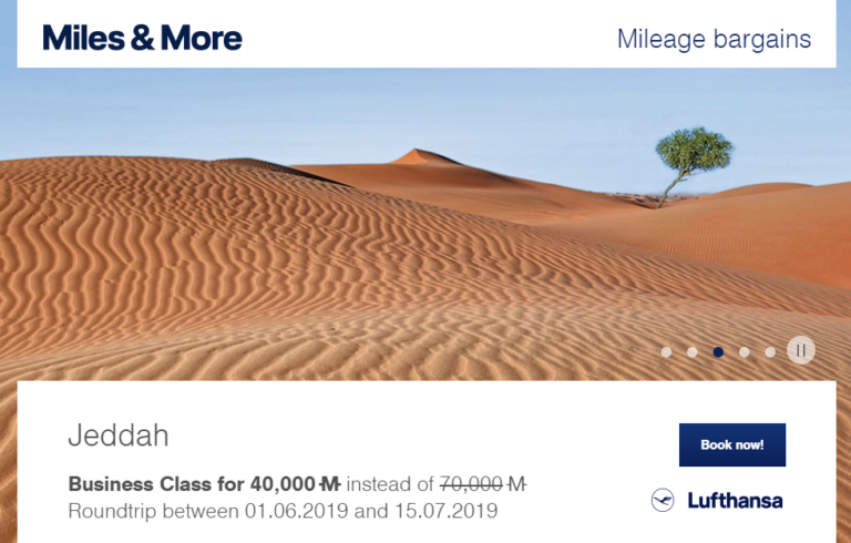 Miles & More Mileage Bargains Februari
