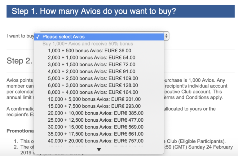 British Airways buy Avios 50% bonus