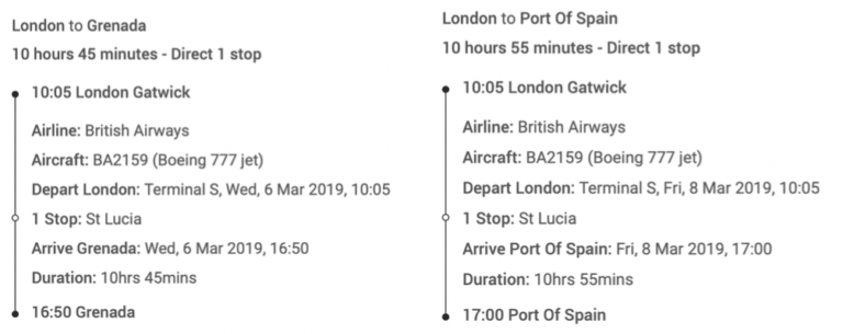 Welke Fifth Freedom Routes vliegt British Airways?