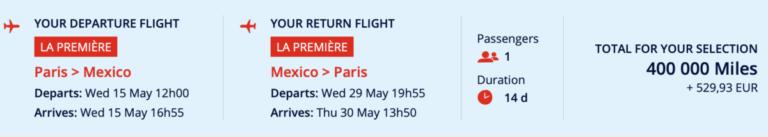 Air France reizigers ontvangen nieuwe comfort kit in La Première