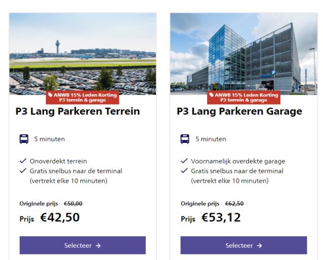 Schiphol Parking ANWB