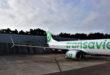 De nieuwe winglets op de B737-800 van Transavia (Bron: Transavia/Fokker)