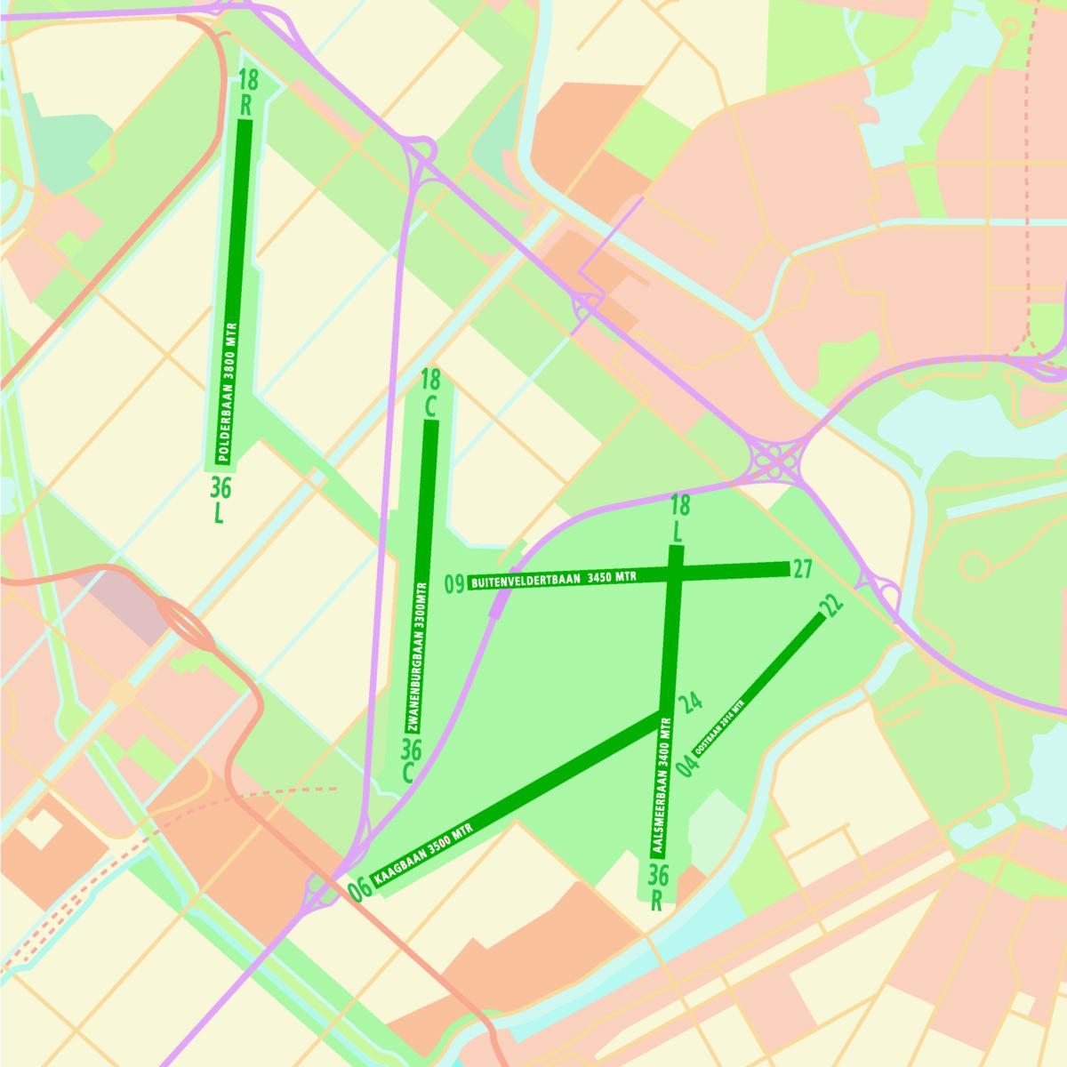 Banenstelsel Schiphol (Bron: Schiphol)