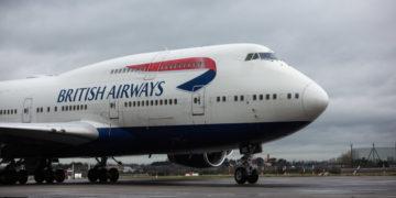 Eerste British Airways toestel in BOAC-livery