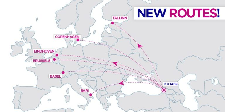 Nieuwe routes Wizz Air vanuit Kutaisi
