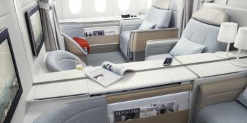 Nieuwe bestemming en gerechten in La Première Air France