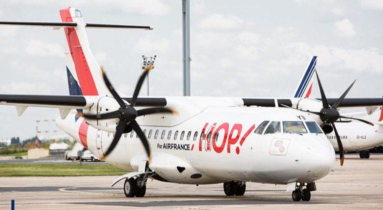 Een ATR toestel van HOP! (Bron: Air France)