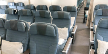 Cathay Pacific Premium Economy Class A350-1000 Amsterdam Hong Kong