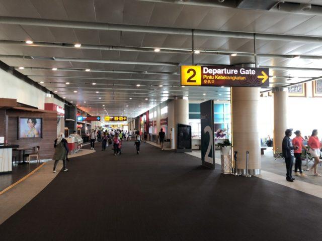 denpasar, luchthaven, gate