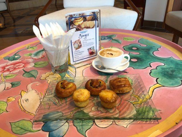 cappuccino, lobby, snacks
