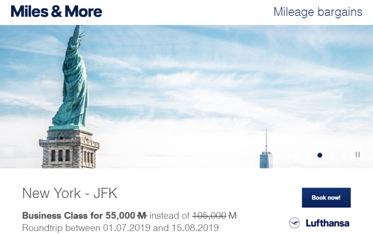 Miles & More Mileage Bargains Maart 2019