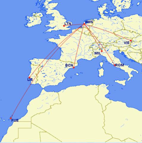 Bestemmingen LEVEL vanaf Amsterdam