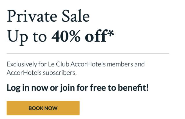 Hoge kortingen met AccorHotels Private Sale