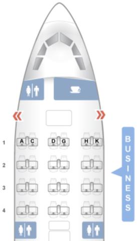 a330, air europa, business class