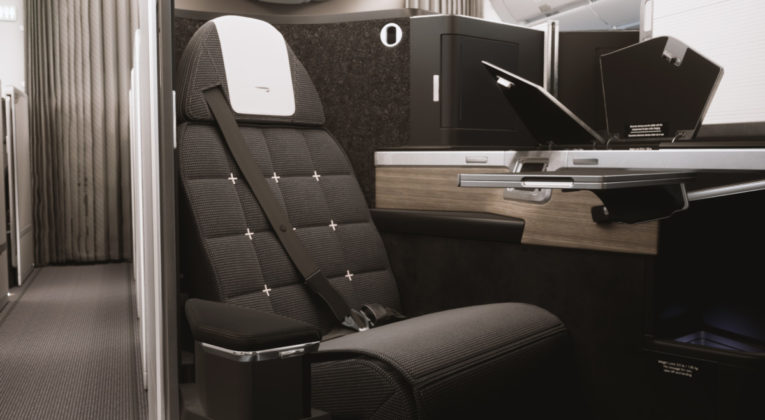 Nieuwe business class aan boord van de A350