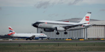Nog meer 'old school' livery British Airways de lucht in