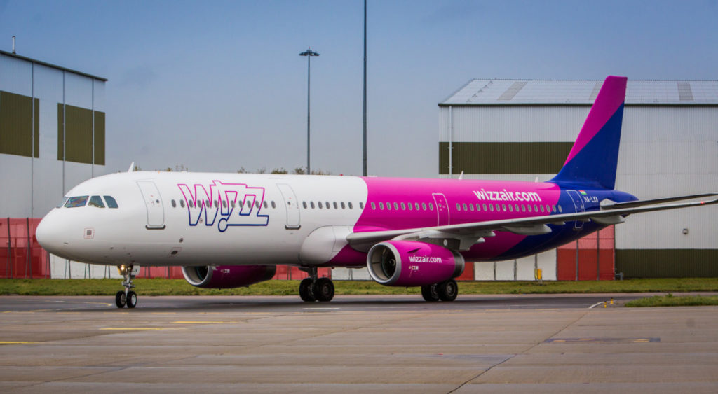 De Airbus A321 van Wizz Air (Bron: Wizz Air)