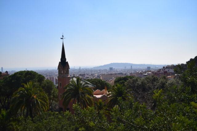 Uitzicht op de stad vanaf Parc Güell