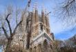 Sagrada Família gezien vanaf het nabijgelegen parkje