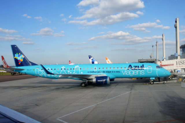 Embraer 195 van Azul (Bron: Wikimedia Commons)