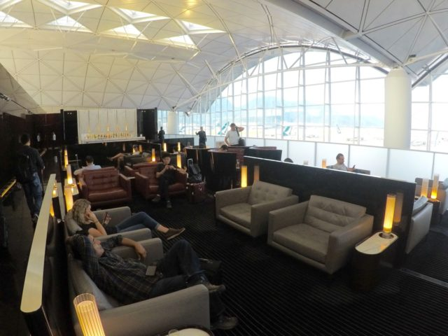 Hong Kong, the wing, first class, lounge, cathay pacific