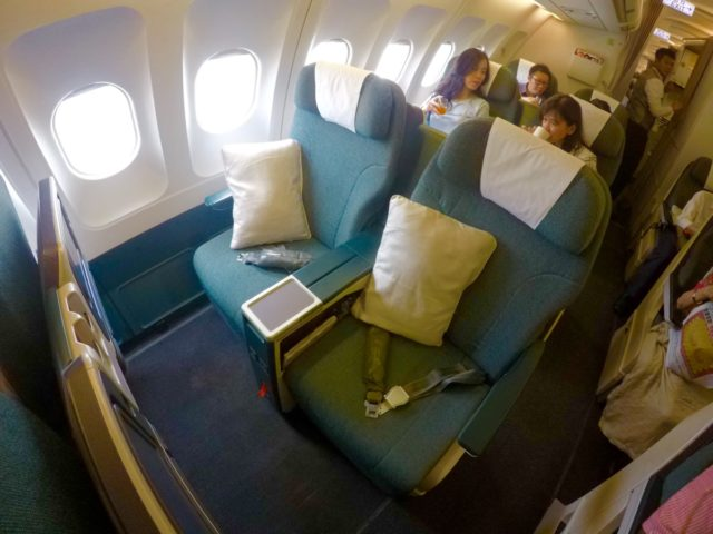 cathay dragon, a330, business class