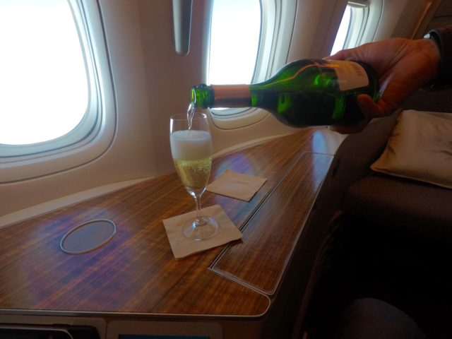 champagne, cathay pacific
