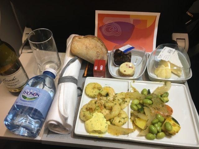 De smaakvolle maaltijd aan boord van Air France