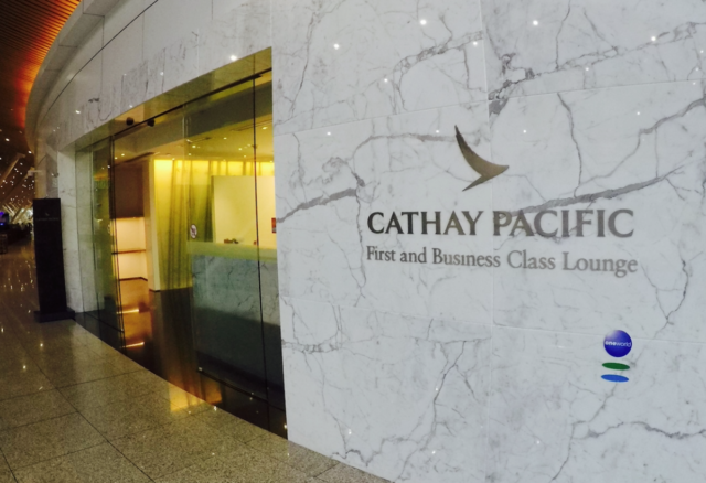 cathay pacific, business class, lounge, Hong Kong