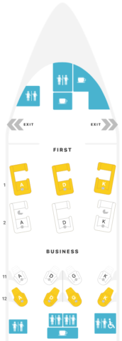 plattegrond, cathay pacific, first class