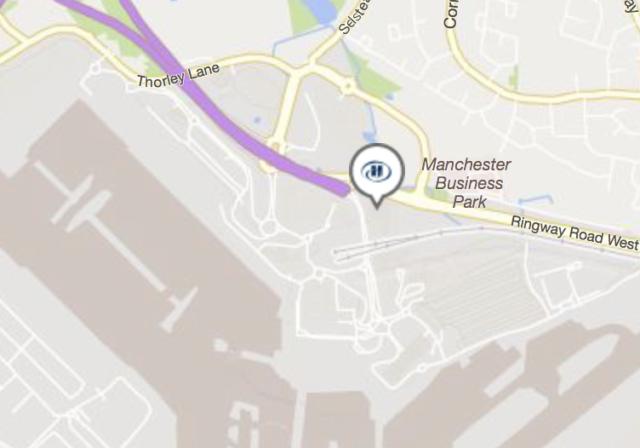 hilton, manchester, airport, locatie