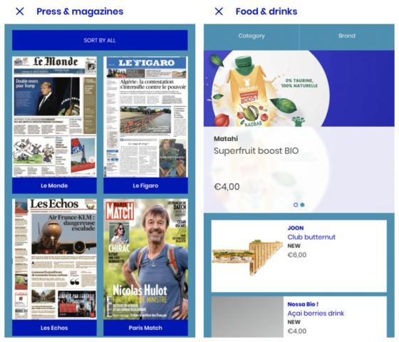 Je kunt via de app kranten en tijdschriften downloaden