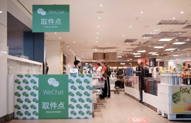 Het WeChat Pick-Up Point op Schiphol (Christian)