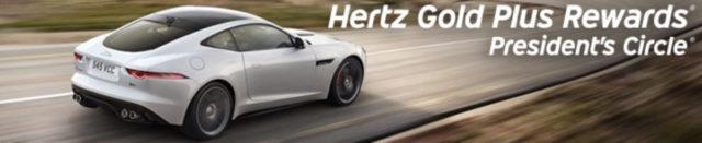 Het Hertz President's Circle lidmaatschap behaal je met minimaal twintig keer autohuur (Bron: Hertz