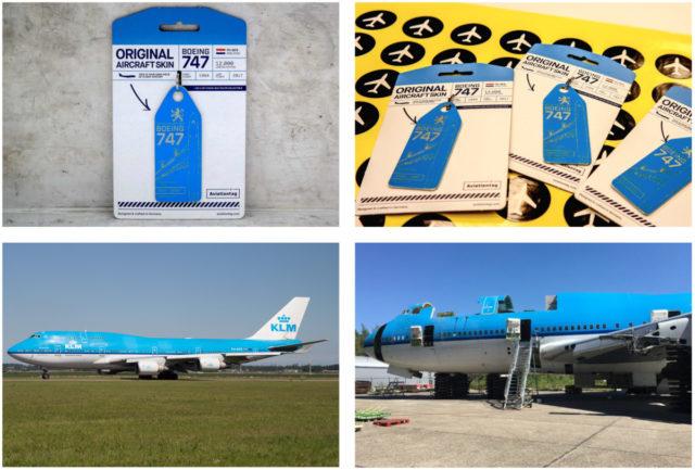 De Boeing 747-400 combi van KLM werd gebruikt voor de productie van de Aviationtag (Bron: Aviationtag)