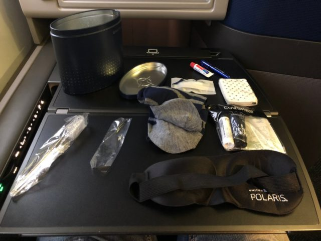 amenity kit, polaris, united, business class