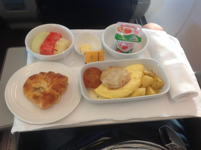 Malaysia airlines, business class, ontbijt