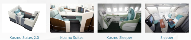 On Board Classes of Service Korean Air
