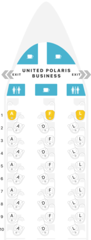 polaris, business class, united, boeing 767, configuratie