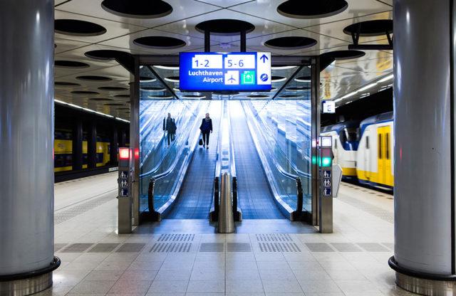 Schiphol is perfect bereikbaar per trein (Bron: Schiphol / Bart Brussee)