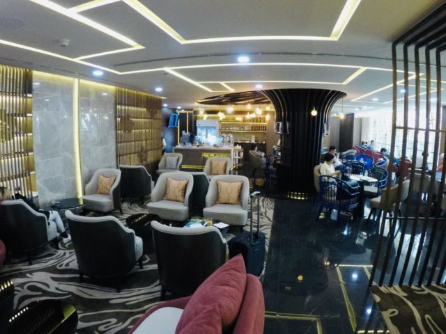 china airlines, dynasty lounge, zitgedeelte