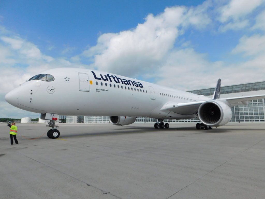 De Airbus A350-900 van Lufthansa (Foto: Lufthansa)/ Mileage Bargains