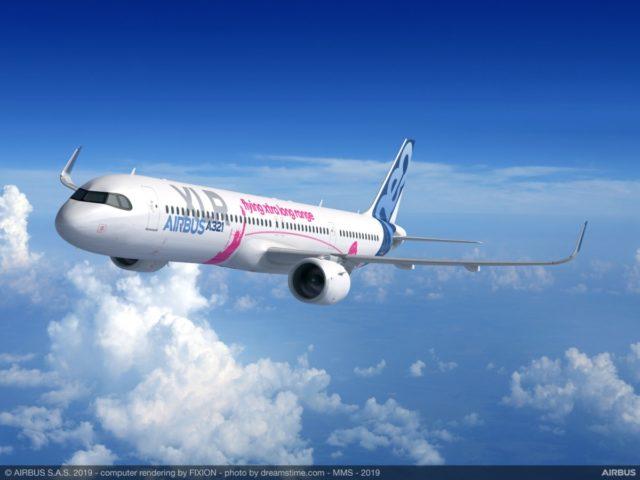 De nieuwe A321XLR (Bron: Airbus)
