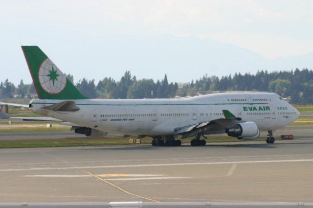 Boeing 747 van EVA Air (Bron: Aeroprints.com)