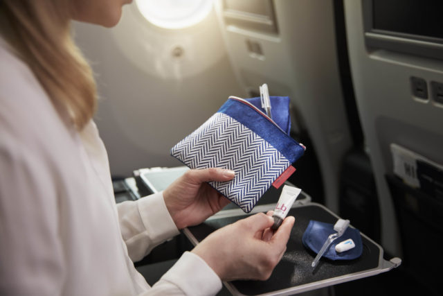 De nieuwe amenities in BA World Traveller Plus (Bron: British Airways)