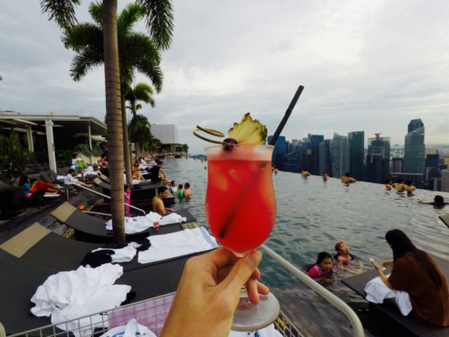 Singapore, singapore sling, marina bay sands, cocktail