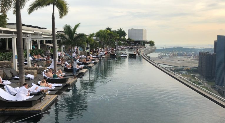 infinity pool, Singapore, marina bay sands