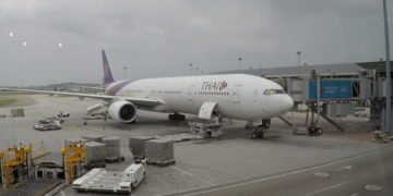 thai airways, boeing 777, business class, review