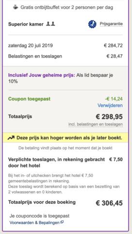 Hotels.com boekingsproces