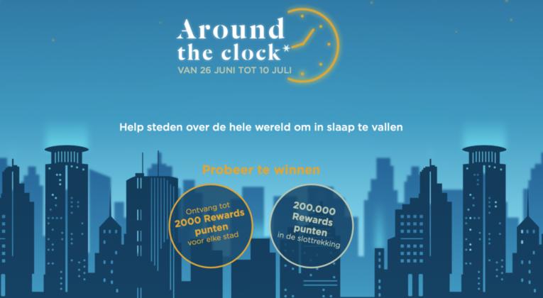 Win AccorHotels Rewards-Punten met 'Around the Clock'.